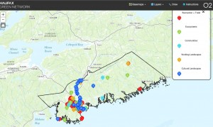 Screen Capture of the online mapping tool